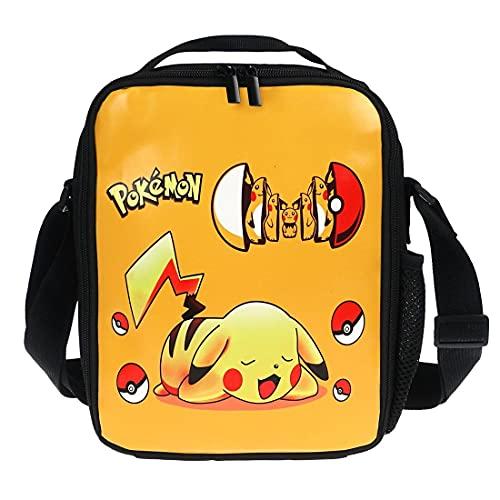 CosplayStudio Sac à déjeuner Pokemon pour enfant | Sac à déjeuner isotherme avec Pikachu | 21 x 26 x 6 cm | Motif : Pokeball