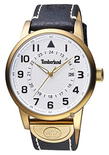 Timberland Reloj Analógico para de los Hombres de Cuarzo con Correa en Piel Genuina TBL.15250JSK/04