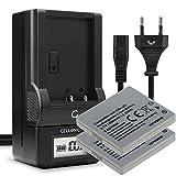 CELLONIC® 2X Batería de Repuesto DB-L20 DB-L20A Compatible con Sanyo Xacti VPC-CG9 VPC-CG6 -CG65, VPC-C1 VPC-C4 VPC-C5, VPC-CA6 VPC-CA8, VPC-E1 -E60, 700mAh + Cargador, Accu Camara Battery