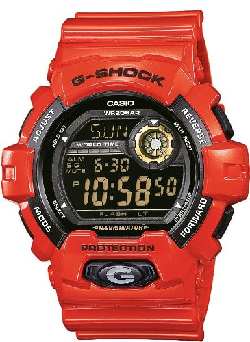 Casio G-Shock World Time G-8900A-4ER Orologio da uomo sportivo resistente all´urto