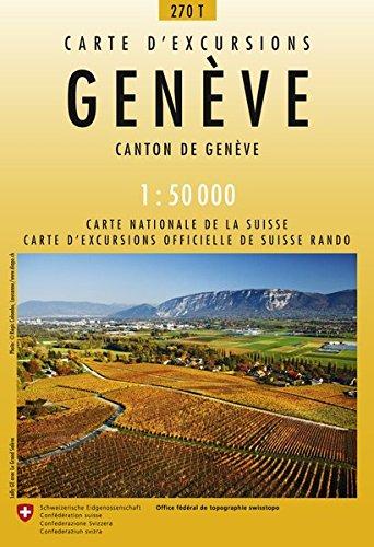 270T Genève Wanderkarte: Canton de Genève (Wanderkarten 1:50 000)