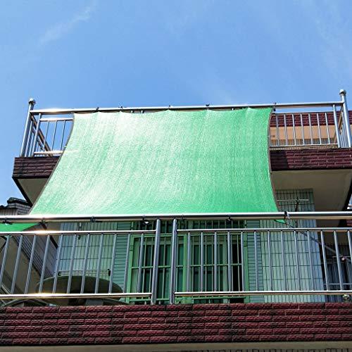 Groen Balkon Zonnescherm Net 75% Shading Rate Outdoor UV Protection Net Met Grommets Tuin Zonnebrandcrème Winddichte Zonneschaduw, Multi-spec