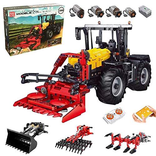 FigureArt Mould King Traktor Technik, Mould King 17019, 2596 Teile, mit 4 Motor, 4-in-1 Traktor Modell Groß Klemmbausteine Bausatz Kompatibel mit Lego Technic