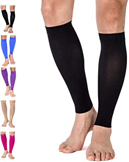 TOFLY Calf Compression Sleeve, 1 Pair - Multiple Colors for Men Women, Leg Compression Socks 20-30mmHg for Shin Splint, Calf Pain Relief, Swelling, Varicose Veins - Maternity, Travel, S - 3XL 4XL 5XL