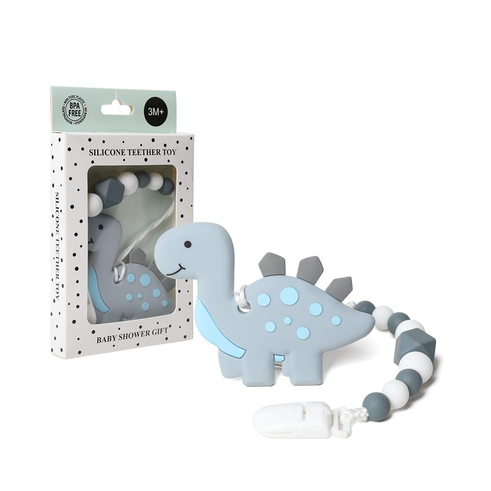AmazingM Dinosaur Teething Pain High material Relief with Pacifier Clip Toy Ho Selling rankings