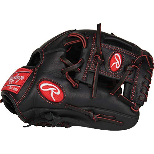 """Rawlings R9YPT2-2B-3/0 Baseball Youth Pro Taper 11 1/4"""" Inf Gloves, Right Hand Throw"""