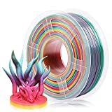 SUNLU Rainbow PLA Filament 1.75mm 3D Printer Rainbow Filament, Multicolor PLA Filament for 3D Printers and 3D Pens,1kg Spool
