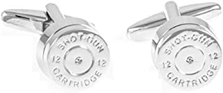 MRCUFF Bullet Shell Casing Police Pair Cufflinks in a Presentation Gift Box & Polishing Cloth