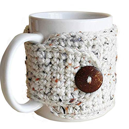 crochet coffee cup cozy - 8