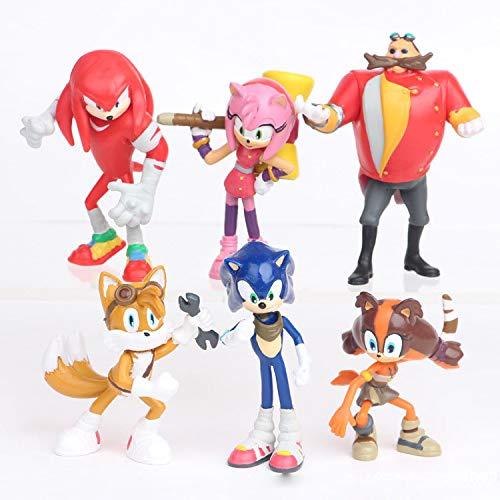 Juguetes sónicos Super Sonic Figura de Acción Knuffel Amy The Hedgehog Tails Metal Sonic Figura Plástico Modelo Niños Pastel de Cumpleaños Figurita Modelo Juguetes
