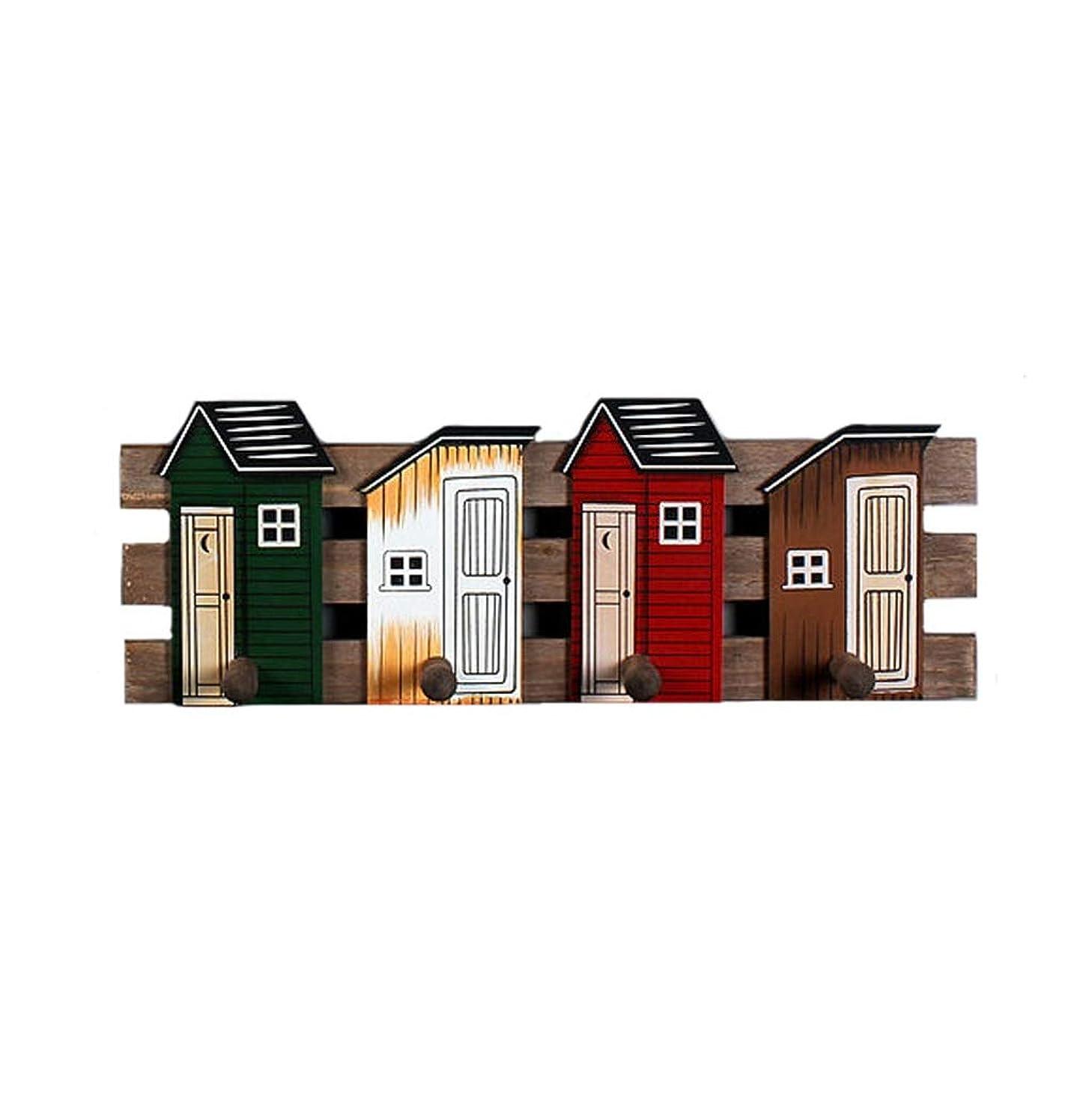 ビンリブ枯渇純木シンプルなフック壁の装飾フック家の木製の装飾的なコートフッククリエイティブハンガー