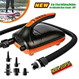Tuomico Max 20 PSI SUP Electric Air Pump with Dual Stage Inflation & Deflation, LCD Digital Electric Pump with 6 Nozzles for Boats, Water Sport, Inflatable Tent