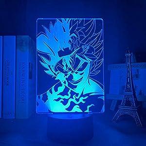 3D Lamp Illusion Lamp Anime Light 3D Lamp Anime Black Clover Asta Light for Kids Bedroom Decor Night Light Birthday Gift Manga Gadget Black Clover Asta Lamp
