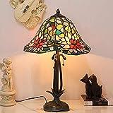 ステンドグラス ランプ 蓮の花 16インチ テーブルランプ アンティーク