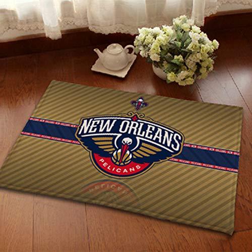 WYBY Fashionable Creative Rug-Pelicans Tribunal de Baloncesto Rug-Best Gift para Fan Amigos/Niños/Compañeros de Clase 40 * 60cm