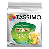 Tassimo Twinings Thé Vert à la Menthe, 16 T-Discs
