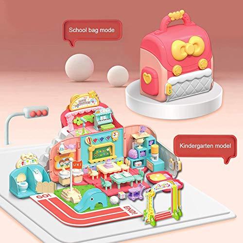 Preschooler's Educational Toys, Cute Backpacks Play House Toys Girls' Toys Simulation Kindergarten Scene Toys Preschool Cognitive Toys