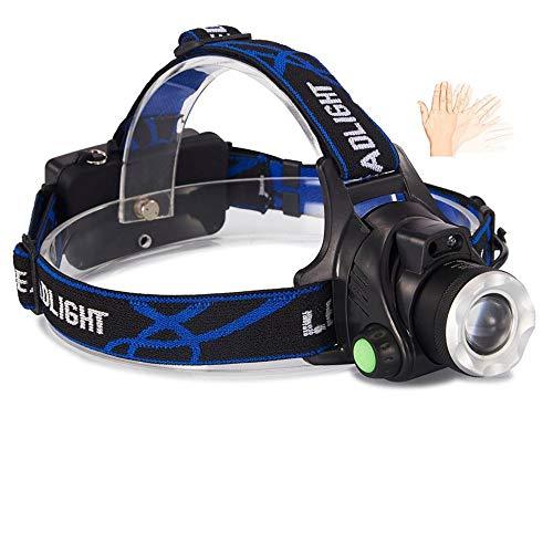 SHIYIMY Linternas Frontales Antorcha de la Linterna de LED USB Faro del Sensor de Movimiento Faros Cabeza de la lámpara de la Linterna al Aire Libre en la Cabeza iluminación