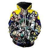 RAIN Unisex Men Women My Hero Academia Hoodie Outwear Jacket, Hero J, Small