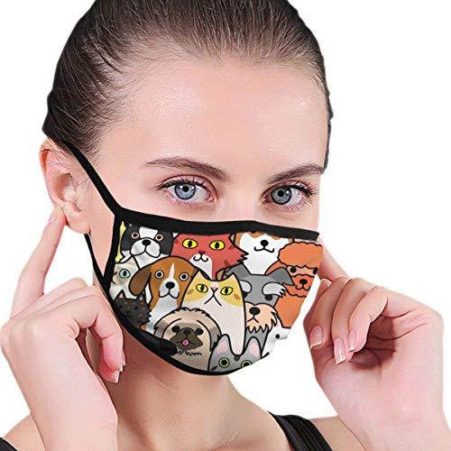 Mascarilla para perros y gatos sin costuras con fondo colorido, máscara de media cara con orejeras, antipolvo, antineblina, antiviento