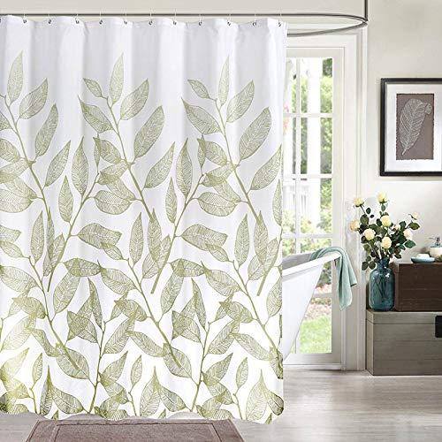 SMNHSRXH douchegordijnen met groene bladeren, elegant, eenvoudig, van polyester, waterdicht, schimmelbestendig