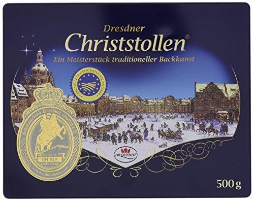Dresdner Christstollen von Dr.Quendt 0,5 kg (500g) in Dose/Geschenkdose