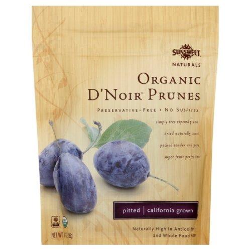 Sunsweet Prunes, Organic D?Noir, 7-Ounce Packages (Pack of 12)