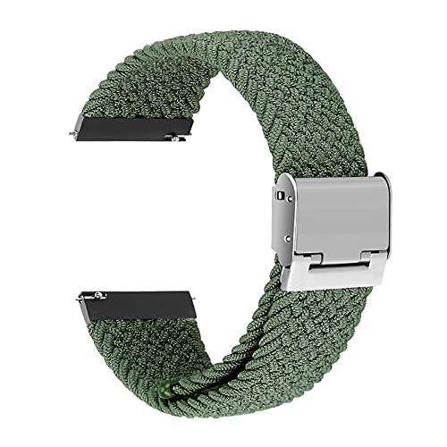 Correa universal de interfaz ancha Sunbose de 20 mm, estilo vers¨¢til, adecuada para muchas marcas de relojes inteligentes como Samsung, Huawei o Xiaomi.£¨Verde de Inverness£