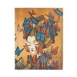 Paperblanks 18 Monatskalender Flexi 2020-2021 (Softcover) Madame Butterfly | Vertikal | Ultra (180 × 230 mm)