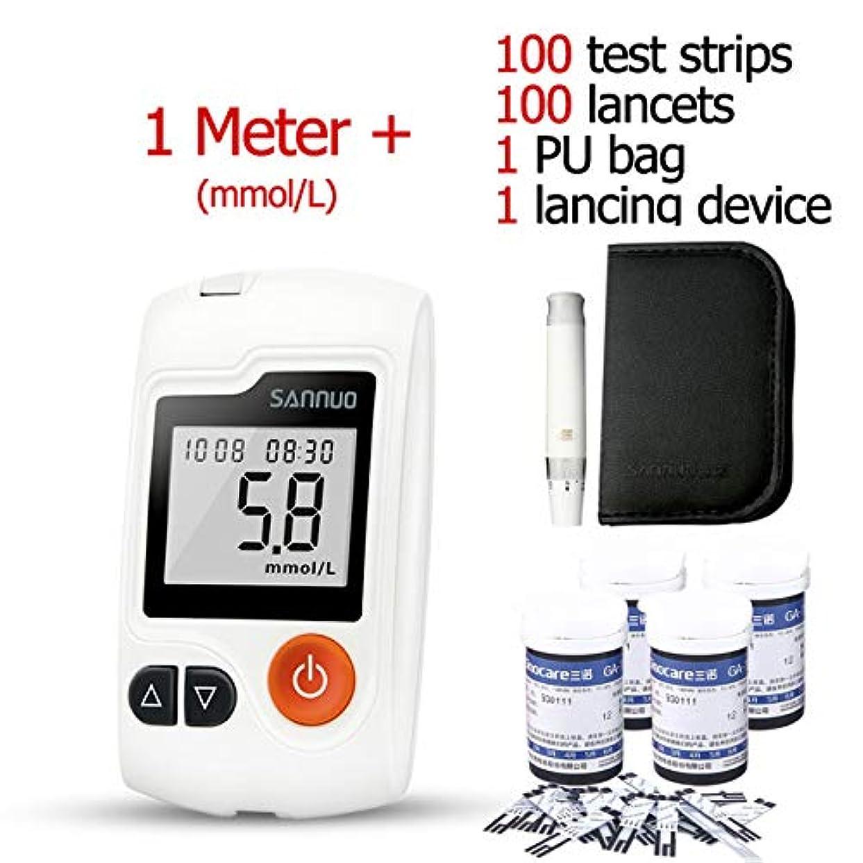 排気可決温室テストストリップおよび糖尿病のテスターが付いている血ブドウ糖のメートル血のコレクションの針の50部分/ 100部分,100