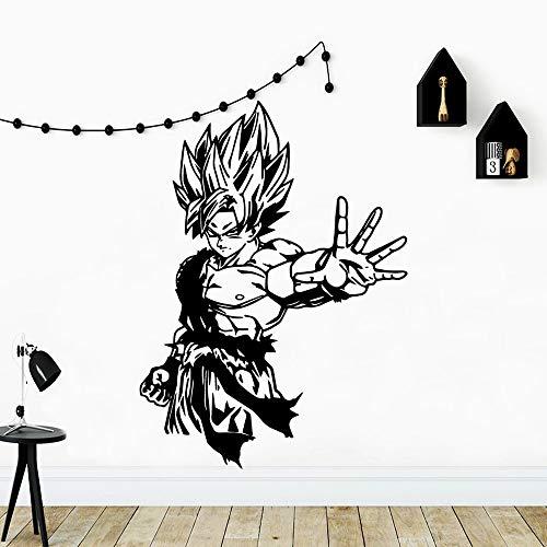 WERWN Pegatinas de Vinilo clásicas diseño Moderno Anime Dragon Ball Wallpaper Art Pegatinas de Pared calcomanías de Transferencia Dormitorio Vinilo Regalos
