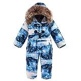 BAITE ONE -30 Grados de Ropa de Invierno para niños, Chaqueta de plumón General para niños, Traje de esquí Grueso y cálido para niñas, Mono para Nieve Ink Painting 3t