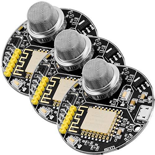 AZDelivery 3 x AZ-Envy Wlan ESP8266-12F Umwelt Entwicklungsboard mit Feuchtigkeits- und Luftqualitätssensor (MQ-2 und SHT30) kompatibel mit Arduino inklusive E-Book!