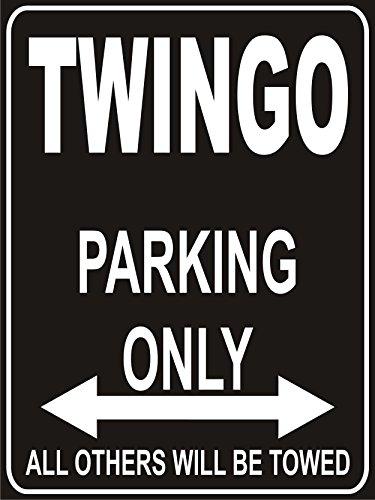 INDIGOS UG - Parkplatz - Parking Only Renault Twingo - Parkplatzschild