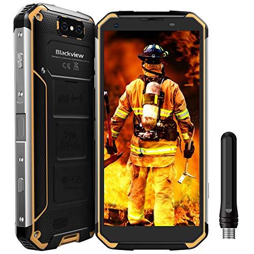 Blackview BV9500 Pro - Teléfonos Móviles Todoterreno Resistentes a Golpes y Agua (Walkie-Talkie 4G Smartphone con 10000mah Batería, 6Gb+128Gb, Android 8.1, 5.7'' FHD PTT/GPS/NFC/OTG) (Amarillo)