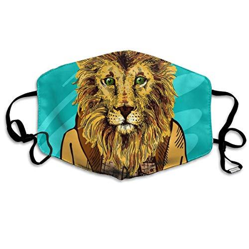 Cartoon Lion King Stofdicht wasbaar masker - herbruikbaar masker - mondmaskers