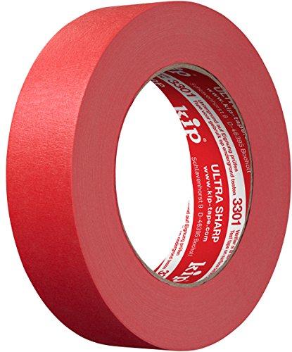 Kip Tape 3301 Ultra Sharp Abklebeband – Professionelles Malerkreppband für ultra scharfe Kanten beim Streichen & Lackieren – 30mm x 50m