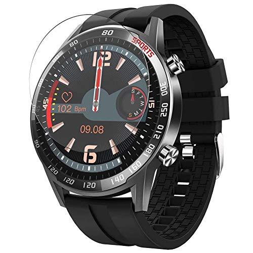 Vaxson 3-Pack TPU Pellicola Protettiva, compatibile con YoYoFit T23 1.4' Smart Watch, Screen Protector Film [Non Vetro Temperato Cover Case ]