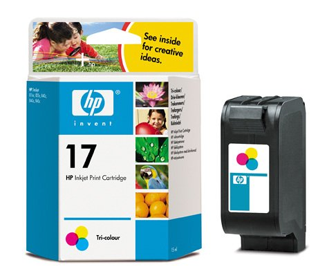 Hp Tri ColourNo.17 - Cartucho de tinta (15 ml, en caja)