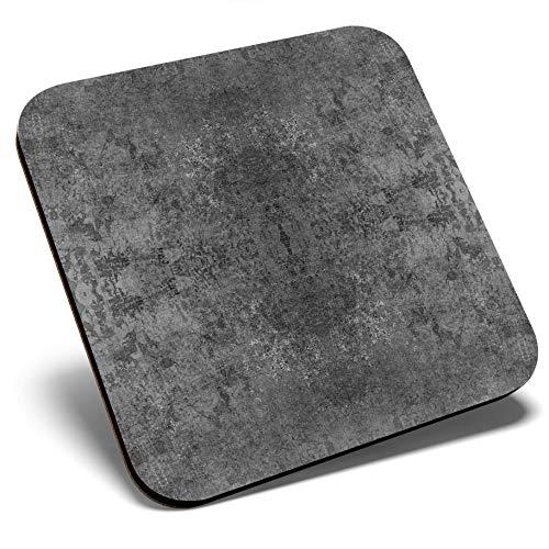 Gran posavasos cuadrado BW – Patrón Tie Dye Boho Hippy | Posavasos de calidad brillante | Protección de mesa para cualquier tipo de mesa #35110