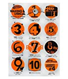 Nippaz With Attitude Zählen Zahlen Plakat. Lernposter. Musikplakat für Kinder. Coole wandplakat