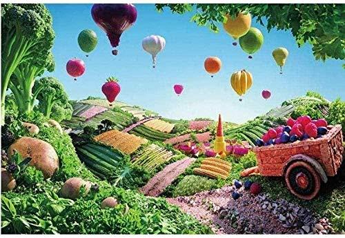 Juguetes - 3D Puzzle Madera Puzzles Para Adultos Rompecabezas Niños Puzzle Globo creativo aire caliente frutas y verduras 1000 Piezas Papel Descompresión Rompecabezas Alta Dificultad Decoración Mural