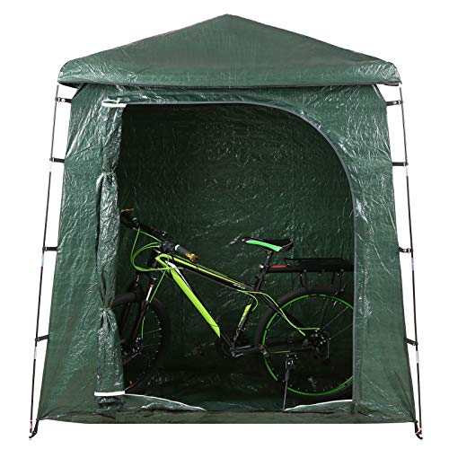 Lixada Cobertizo para Almacenamiento de Bicicletas Al Aire Libre Impermeable Carpa para Bicicletas