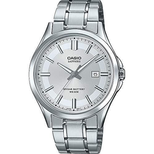 CASIO Herren Analog Quarz Uhr mit Edelstahl Armband MTS-100D-7AVEF