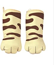 Thick Cotton Oven Mitts Cute Cat/Paw Design Baking Gloves Heat Resistant Cooking Gloves Potholder Funny Grilling Microwave...
