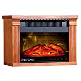 Heat Surge Mini Glo Efficiency Plus Touch Portable Electric Fireplace Heater with Remote Control