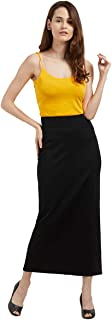 Fusion Beats Women Black Solid Blended Polyester Skirt