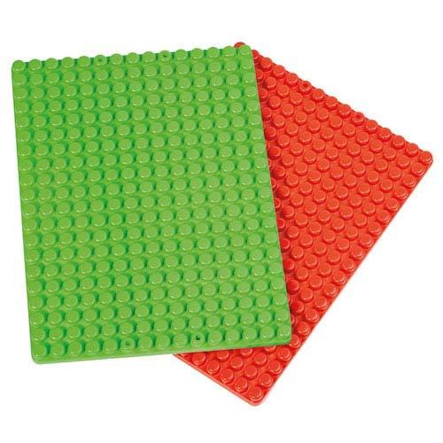 Unbekannt Poly-M Mega Bauplatten, 2 STK. - Bausteine Stecksystem Krippenbausteine