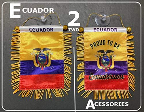 Mad can Studios Ecuador Flags Car Accessories Small Sticker Decal Quality Made Mini Banner and Ecuadorian Decal