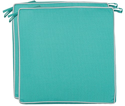 Brandsseller, cuscini decorativi per ambienti esterni,impermeabili e antisporco, 220g di Imbottitura, dimensioni di 40 x 40 x 4 cm, tessuto, Türkis - strukturiert, 2er-Vorteilspack